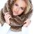 magnifico · donna · indossare · pelliccia · sciarpa - foto d'archivio © dash
