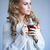 daydreaming woman drinking tea stock photo © dash