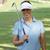 mulher · jogador · de · golfe · motorista · golfball · céu - foto stock © dash