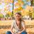automne · fille · séché · laisse · automne · peu - photo stock © dash