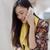 jonge · vrouw · luisteren · oproep · mobiele · aantrekkelijk · chic - stockfoto © dash