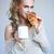 donna · fresche · croccante · cornetto · bella - foto d'archivio © dash