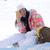 mutlu · kayakçı · gülümseyen · kadın · Kayak - stok fotoğraf © dash