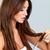 mooie · brunette · vrouw · haardroger · portret · meisje - stockfoto © dash