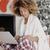 jonge · vrouw · kopen · geschenken · creditcard · christmas · home - stockfoto © dash