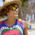 にやにや · 女性 · サングラス · 帽子 · 海 · 美しい - ストックフォト © dash
