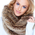 gorgeous blond woman wearing fur scarf and smiling stock photo © dash