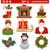 Noël · icônes · arbre · de · pin · forme · carte · de · vœux - photo stock © dashadima