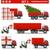 transport · icônes · camion · noir · trafic - photo stock © dashadima