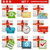 vector christmas delivery set 7 stock photo © dashadima