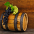 still life with barrel decorated red and white grapes stock photo © dashapetrenko