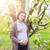 jonge · mooie · zwangere · vrouw · tuin · voorjaar - stockfoto © dashapetrenko