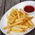 patates · ketçap · hizmet · beyaz - stok fotoğraf © dashapetrenko