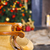 christmas scene with chair tree gifts and fireplace in backgroun stock photo © dashapetrenko