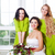 novia · dama · de · honor · flores · boda - foto stock © dashapetrenko