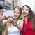 close up lifestyle portrait of girls best friends makes funny gr stock photo © dashapetrenko