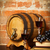 retro still life with red wine and barrel stock photo © dashapetrenko