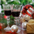 verres · vin · rouge · arbre · de · noël · vacances · fête - photo stock © dashapetrenko