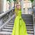 beautiful woman in long green dress outdoors stock photo © dashapetrenko
