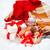 Noël · présente · cookie · haut · vue · table · en · bois - photo stock © dashapetrenko