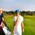 paar · spelen · golf · golfbaan · lopen · volgende - stockfoto © dashapetrenko