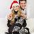 肖像 · 幸せ · クリスマス · カップル · 着用 - ストックフォト © dashapetrenko