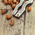 hazelnuts filbert on old wooden table close up stock photo © dashapetrenko