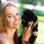 エキセントリック · 女性 · ペット · 子犬 - ストックフォト © dashapetrenko
