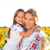 happy mother and her little daughter in the sunflower field stock photo © dashapetrenko