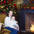 mother with her baby boy siting near the christmas tree stock photo © dashapetrenko