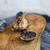 black garlic bulbs and cloves on wooden background stock photo © dashapetrenko