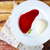 panna cotta italian dessert with raspberry sirup stock photo © dashapetrenko
