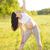 здорового · беременная · женщина · йога · природы · лес · закат - Сток-фото © dashapetrenko