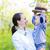 sevimli · mutlu · kafkas · bebek · erkek · bahar - stok fotoğraf © dashapetrenko