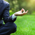 business man relax in a park in the lotus position stock photo © dashapetrenko