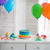 rainbow cake and cupcakes on the birthday party stock photo © dashapetrenko