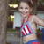 heureux · petite · fille · souriant · Swing · parc · peu - photo stock © dashapetrenko
