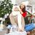 sesión · albornoz · abierto · chimenea · mujer - foto stock © dashapetrenko