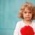 mutlu · sevimli · bebek · duvar · kırmızı · kız - stok fotoğraf © dashapetrenko