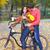 ciclista · equitação · bicicleta · belo · outono · floresta - foto stock © dashapetrenko