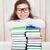 女の子 · 図書 · 着用 · 眼鏡 · 孤立した - ストックフォト © dashapetrenko