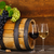 óculos · vinho · tinto · velho · barril · natureza - foto stock © dashapetrenko
