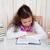meisje · boeken · weinig · brunette · lezing · meisje - stockfoto © dashapetrenko