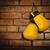 pary · żółty · rękawice · bokserskie · wiszący · murem · ściany - zdjęcia stock © dashapetrenko