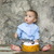 ребенка · первый · рождения · улыбка · кухне · свечу - Сток-фото © dashapetrenko