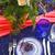 tabel · vintage · stijl · ingericht · bloemen · roze - stockfoto © dashapetrenko