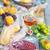 gül · şarap · kadehi · İtalyan · gıda · cam · şarap · ahşap · masa - stok fotoğraf © dashapetrenko