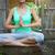 mutlu · genç · kadın · yoga · açık · havada · spor · uygunluk - stok fotoğraf © dashapetrenko
