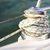 sailboat detailed parts close up on winch and rope of yacht ove stock photo © dashapetrenko