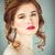 kız · güzellik · salonu · kadın · kırmızı · dişler · rüzgâr - stok fotoğraf © dashapetrenko